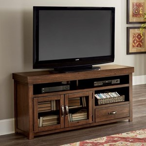 Transitional 74 Inch Console with Glass Doors