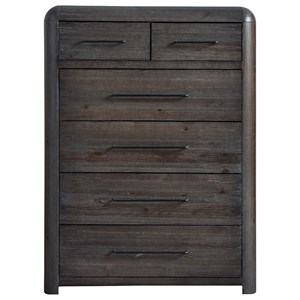 Rustic 6-Drawer Chest