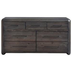 Rustic 7-Drawer Dresser