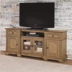 Traditional 72 Inch Console with Bun Feet