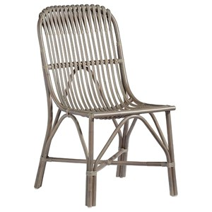 Gray Rattan Accent Dining Chair