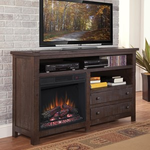 """Rustic Solid Pine 60"""" Console/Fireplace"""