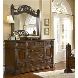 Progressive Furniture Regency Dresser and Mirror