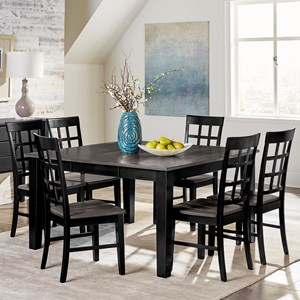 7-Piece Solid Wood Dining Table Set with Self-Storing Butterfly Leaf
