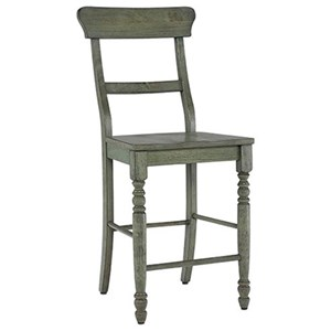 Counter Chair with Ladder Back