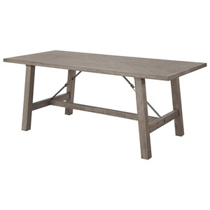 Transitional Dining Table with Trestle Base
