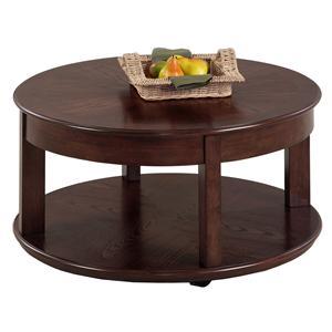 Progressive Furniture Sebring Castered Round Cocktail Table