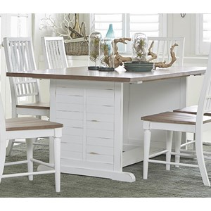 Transitional Rectangular Dining Table with Two-Toned Finish
