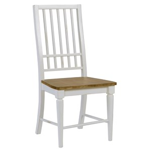 Transitional Mission Dining Chair with Slat Back