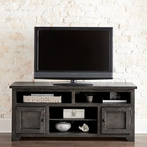 """Contemporary 60"""" Console with Adjustable Shelves"""