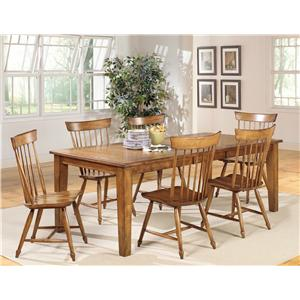 Progressive Furniture Summerhouse 7-Piece Table Set with Duxbury Side Chairs