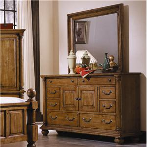 Progressive Furniture Thunder Bay Dresser with Landscape Mirror