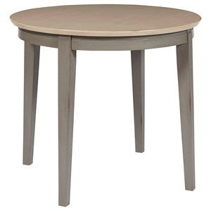 Transitional Dining Table with Round Table Top