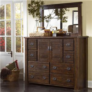 Progressive Furniture Trestlewood Dresser and Mirror