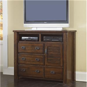 Progressive Furniture Trestlewood Media Chest