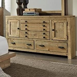 Rustic Dresser with Cabinets