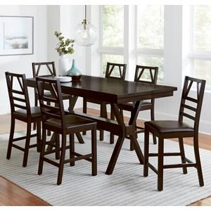 Casual Contemporary 7-Piece Counter Table Set