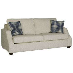 Two-Cushion Sofa with Sloped Track Arms