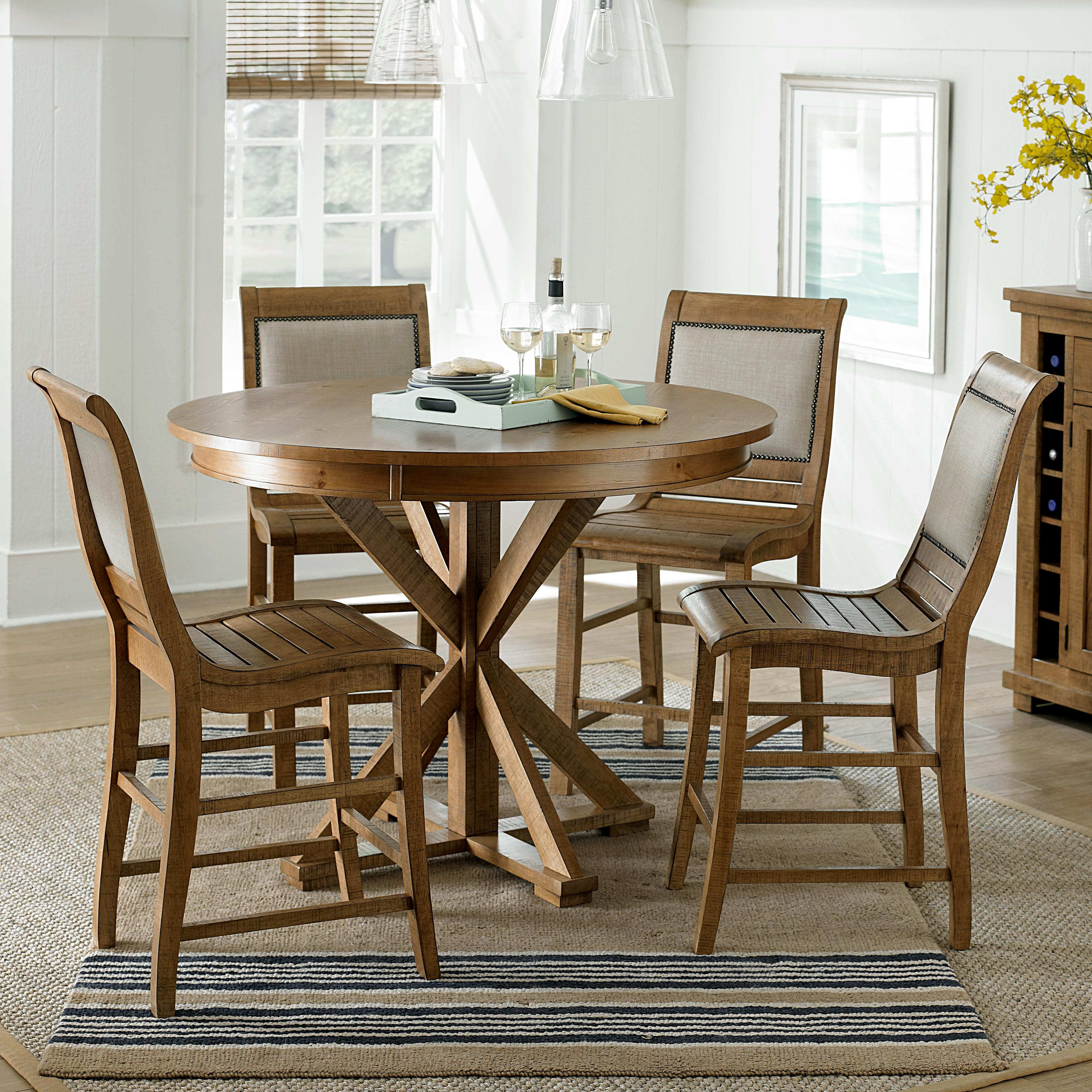 progressive furniture willow dining 5piece round counter