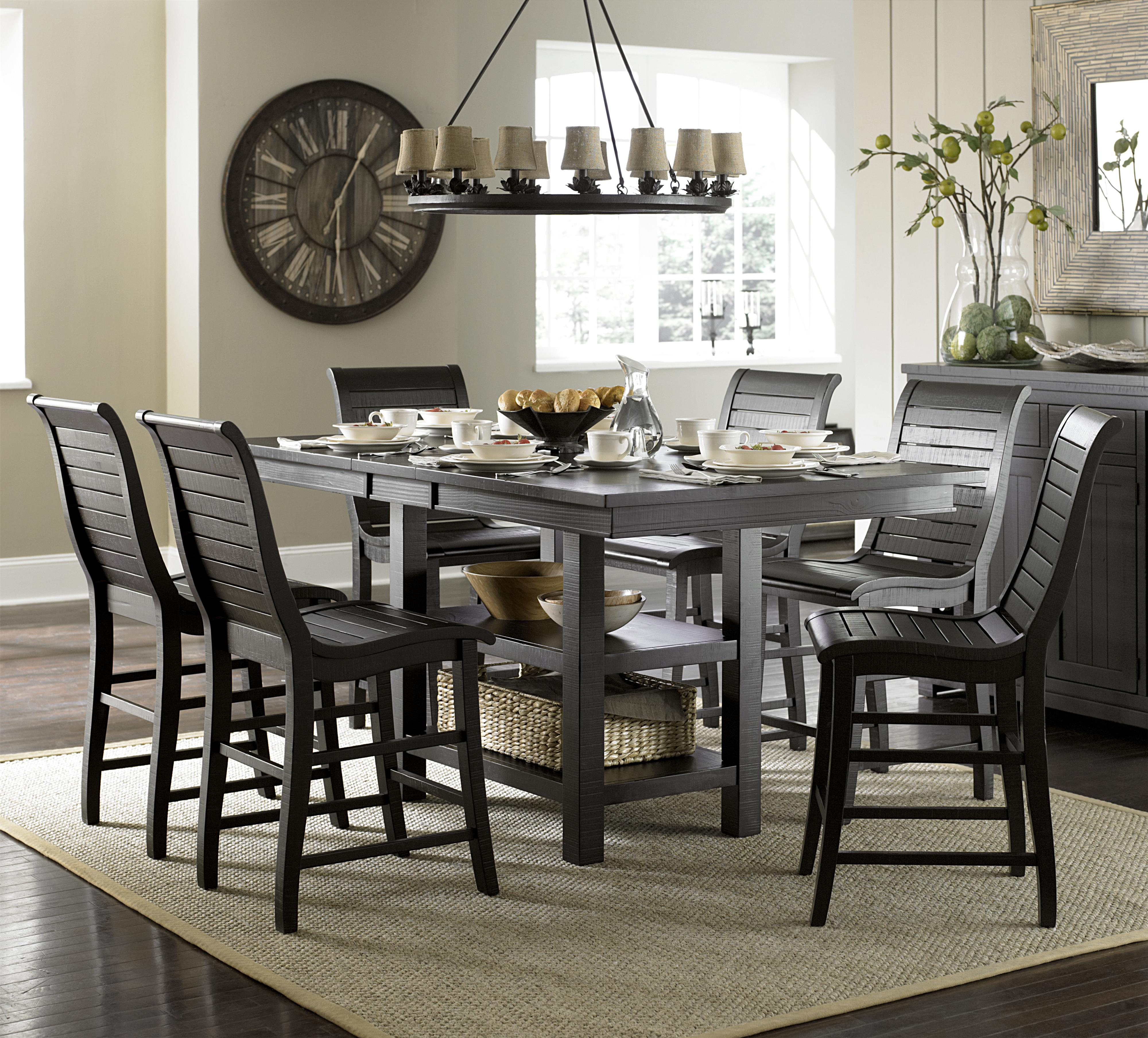 Willow Dining 7-Piece Rect. Counter Height Table Set by Progressive Furniture at Value City Furniture