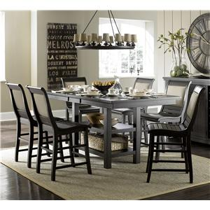 Progressive Furniture Willow Dining 7-Piece Rect. Counter Height Table Set