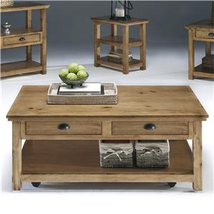 Progressive Furniture Willow Occasional Rectangular Cocktail Table