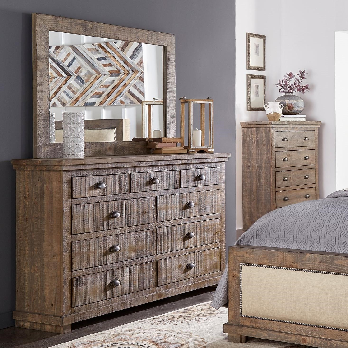 Willow Drawer Dresser & Mirror by Progressive Furniture at Lindy's Furniture Company