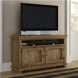 "Small 54"" Distressed Pine Media Console"