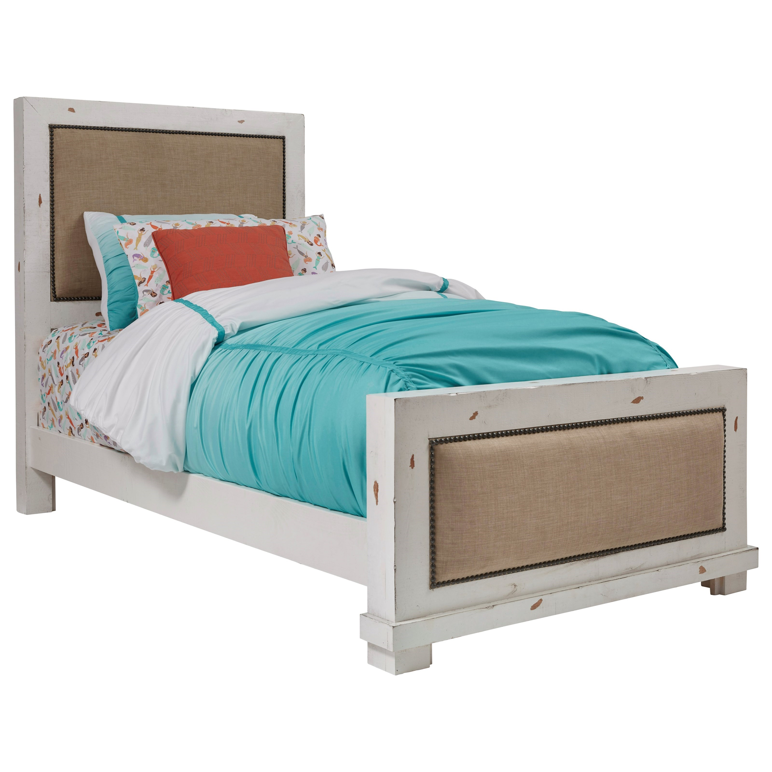 Willow Twin Upholstered Bed by Progressive Furniture at Dean Bosler's