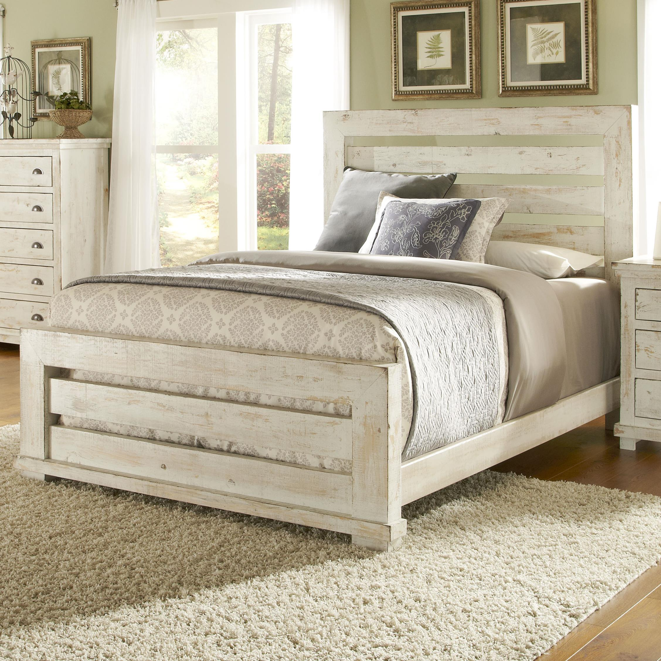Willow California King Slat Bed by Progressive Furniture at Simply Home by Lindy's