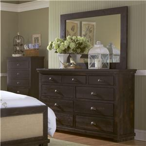 Progressive Furniture Willow Drawer Dresser & Mirror