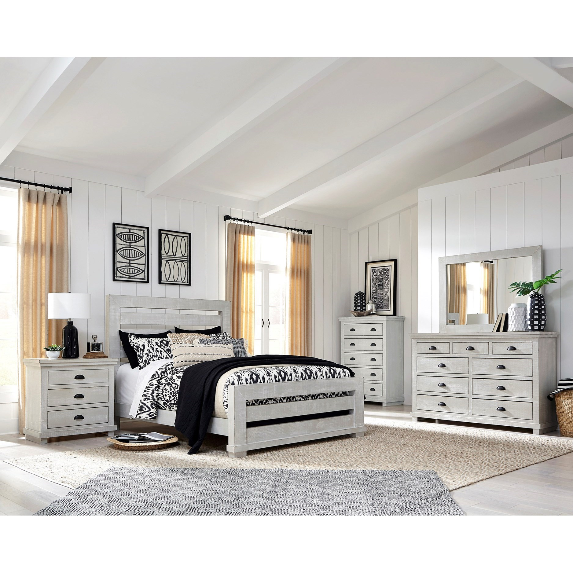 Willow California King Bedroom Group by Progressive Furniture at Bullard Furniture