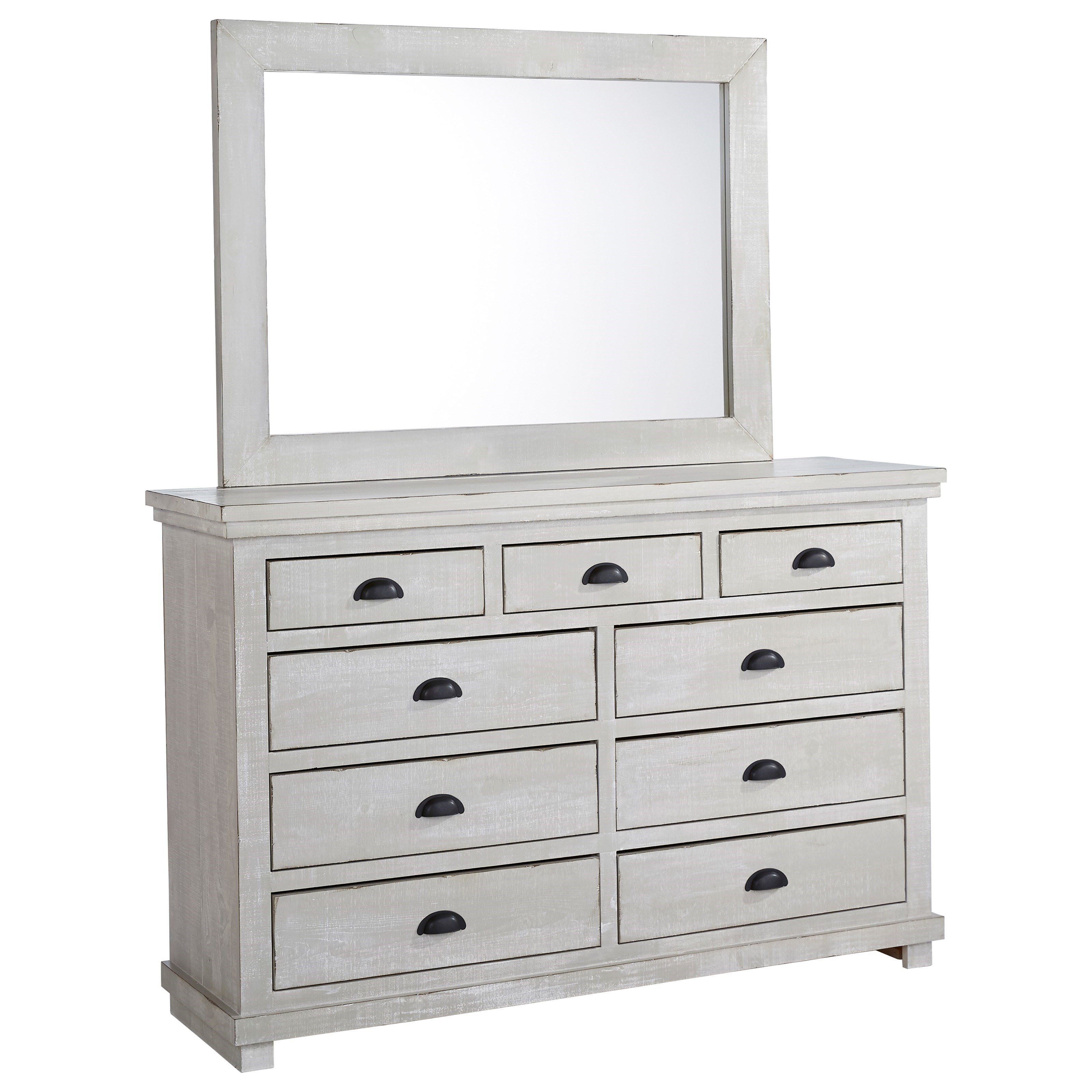 Willow Drawer Dresser & Mirror by Progressive Furniture at Catalog Outlet