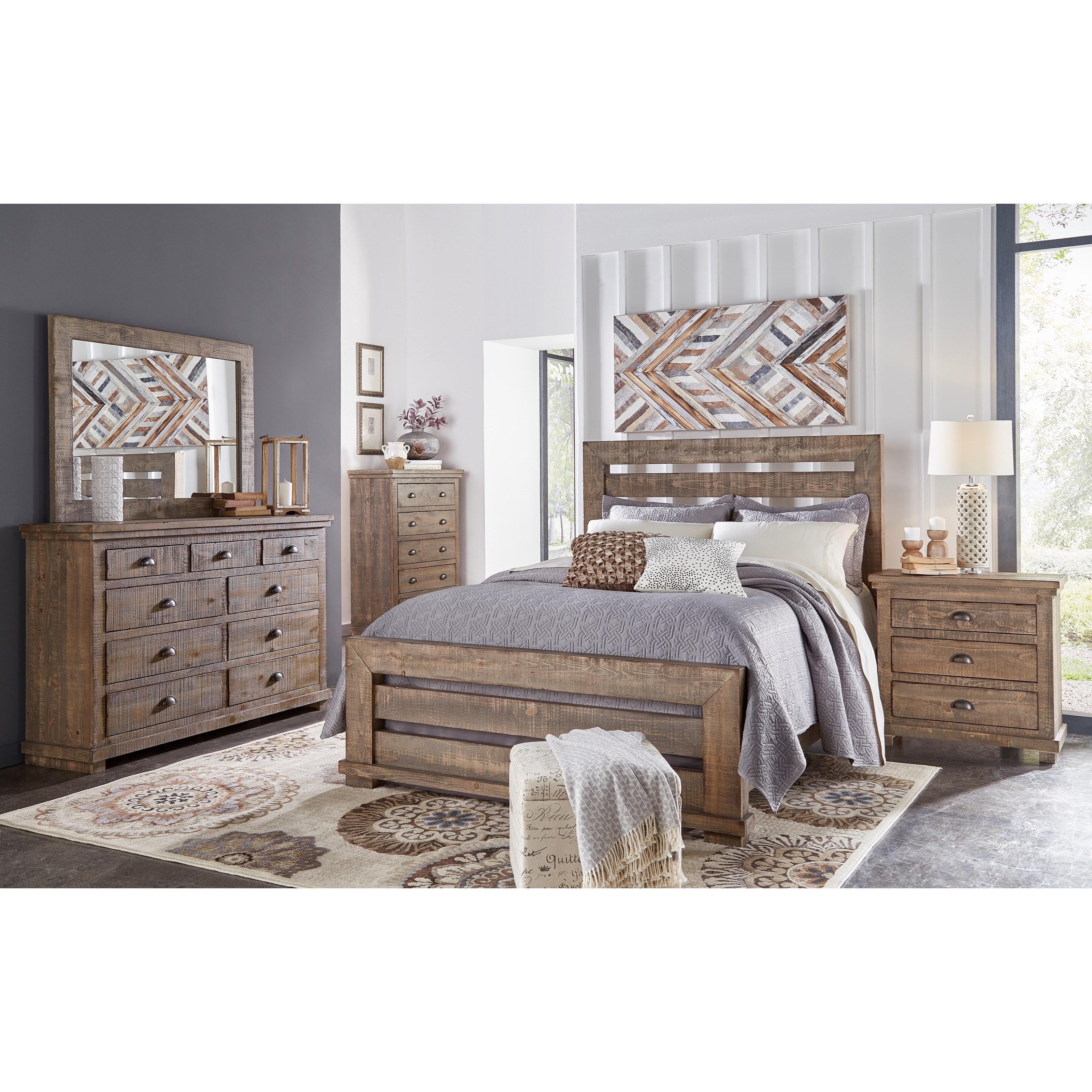 Willow California King Bedroom Group by Progressive Furniture at Bullard Furniture