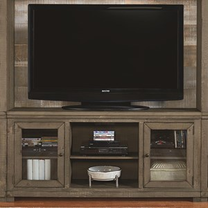 "68"" Distressed Pine Media Console"