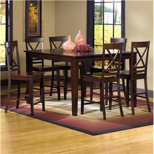 Progressive Furniture Winston 7-Piece Counter Dining Table Set