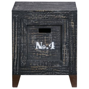 Rustic Storage End Table