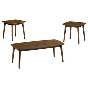 Mid-Century Modern 3-Pack Occasional Group with Cocktail Table and Two End Tables