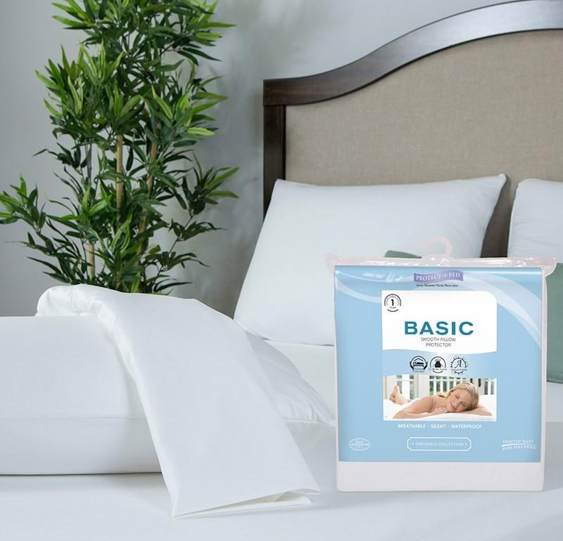 BAS Twin XL Basic Waterproof Pillow Protector by Protect-a-Bed at Dunk & Bright Furniture