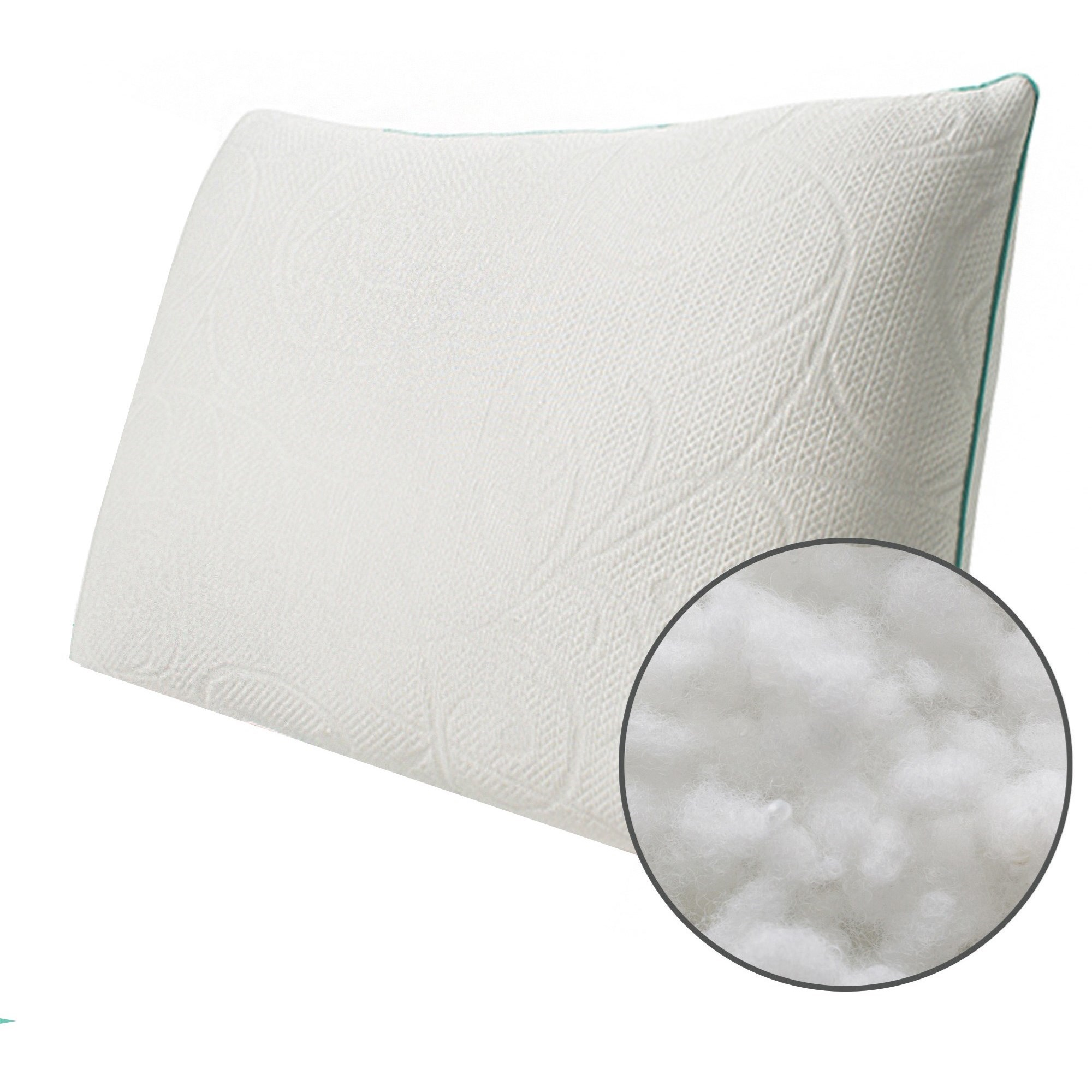 Classic Crystal Pillow Queen Soft Crystal, Down Alternative Pillow by Protect-a-Bed at Dunk & Bright Furniture