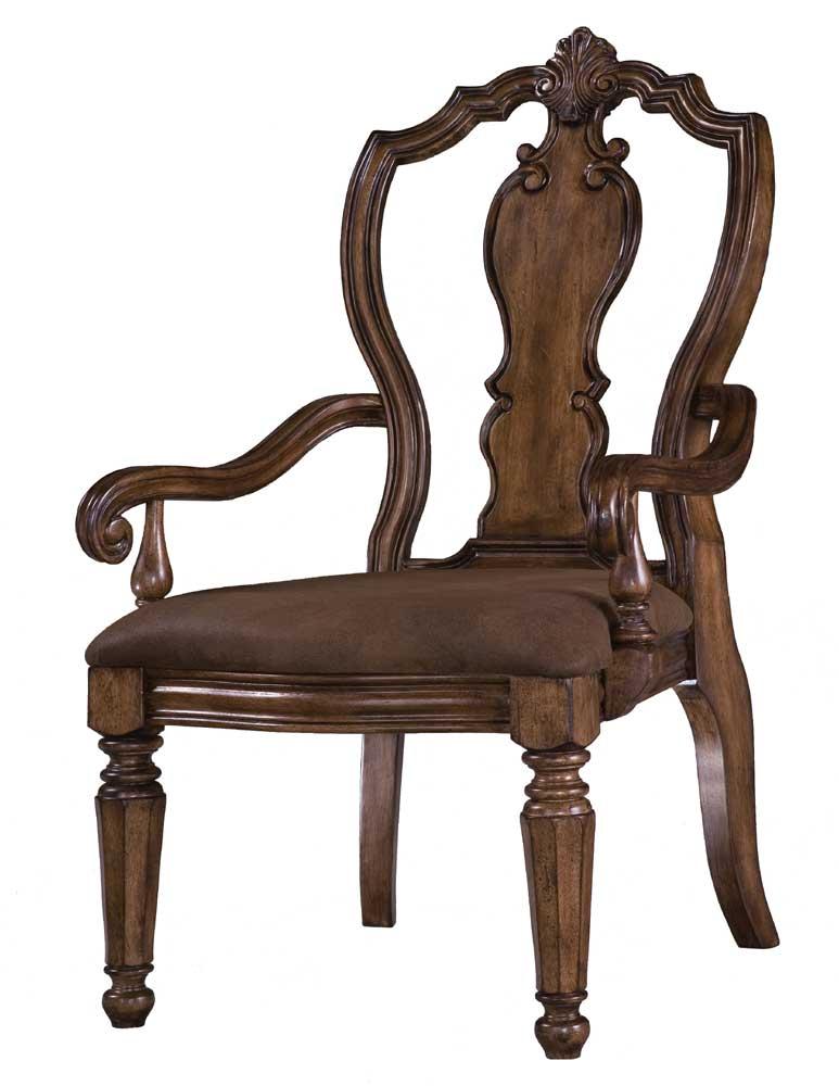 San Mateo Carved Back Arm Chair by Pulaski Furniture at Baer's Furniture