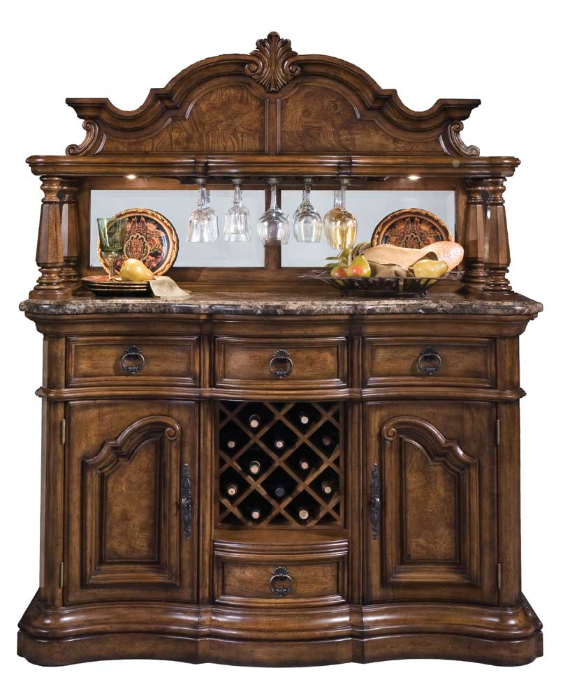 San Mateo Marble Top Sideboard and Hutch by Pulaski Furniture at Baer's Furniture