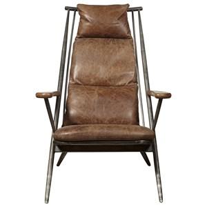 Brenna Chair in Chestnut Leather