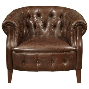 Richard Arm Chair in Coffee Leather