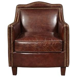 Danielle Arm Chair with Nail Head Trim