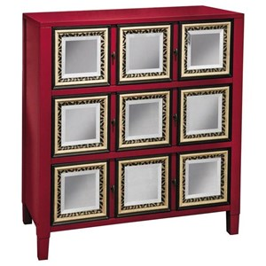 3 Drawer Red Accent Chest