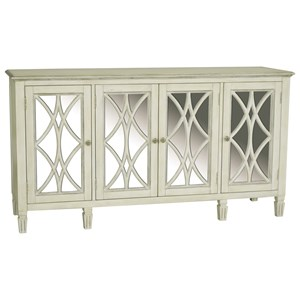 4 Door Florence Console with Wood Grilles