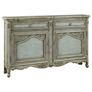 Russelle Credenza with Intricately Framed Doors