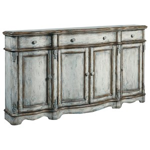Vintage Credenza with Decorative Post Accents