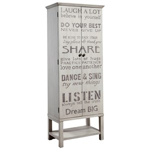 Grandma Wine Cabinet with Cute Quotes on the Doors